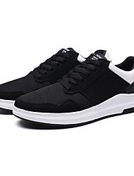 Herren-Sneaker-Lässig-PUKomfort-Schwarz Schwarz Rot Schwarz-Weiss