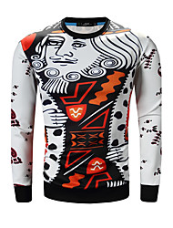 HOT S-3XL Plus Size Men's Casual/Daily Simple Hoodie Print Round Neck Micro-elastic Cotton Long Sleeve Spring Fall Hot Sale