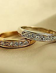 Ringe Hochzeit Party Besondere Anlässe Halloween Alltag Normal Schmuck Aleación Zirkon Ring 1 Stück,6 Goldfarben