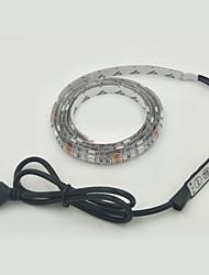 1pcs 30smd 5050 luzes de tira rgb 1m DC 5V usb potência 3.5W IP65 impermeável com controlle rgb