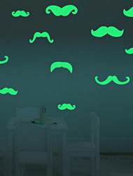 Cartoon Beard Luminous Wall StickersVinyl Material Kid's Room Decoration