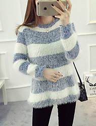unterzeichnen Punkt koreanische Frühjahr neue Langarm-gestreiften Pullover großen Mohair Pullover Bodenbildung