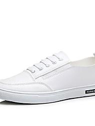 Men's Sneakers/Comfort/Casual/Flat Heel/Lace-up/Black/White