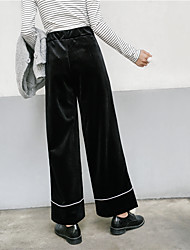 знак гонконг аромат 2017 весной новый ретро хит цвет талия была тонкой бархат широкие брюки ноги случайные штаны