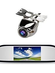 "4.3 ""автомобиль TFT LCD монитор зеркало + сзади автомобиля резервная камера вид"