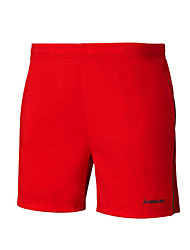 Unisex Running Shorts Comfortable Summer Badminton Polyester Loose Leisure Sports Athleisure Activewear Red Solid