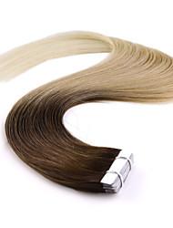 fita grau 5a 100% neitsi 18 '' trama 20pcs pele 36g em Remy humano extensões de cabelo T8 / 27/60 #