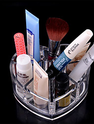 High Quality Love Pot Shape Acrylic Brush Cosmetic Storage Organizer Makeup Display Rack Box