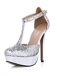 Homme-Mariage Habillé Soirée & Evénement-Argent-Talon Aiguille-Confort Light Up Chaussures-Sandales-Synthétique