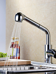 Pull-out Kitchen Sink Faucet Standard Spout Centerset Thermostatic Rain Shower Single Handle Single Hole Kitchen Basin Taps Mixer