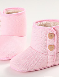 Baby Boots Winter First Walkers Fabric Outdoor Casual Low Heel Magic Tape White Light Purple Pink Walking