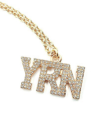 Women's Pendant Necklaces Chain Necklaces Jewelry Simulated Diamond Alloy Jewelry Dangling Style Fashion Personalized Silver JewelryParty
