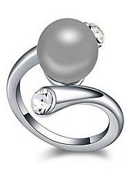 Women's Ring Natural Pearl Alloy Jewelry For Daily