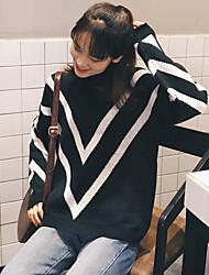 подписать эксклюзивный пользовательский ретро геометрический алмазный высокий воротник хеджирование с длинными рукавами свитер женский