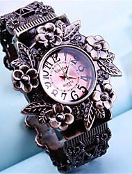 Mulheres Relógio de Moda Quartzo Lega Banda Bracelete Legal Casual Bronze Branco Vermelho Branco/Vermelho