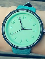 Fashion Watch Quartz Leather Band Casual Blue