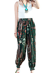Women's Solid Blue / Red / White / Black / Green Jeans PantsSimple All Seasons
