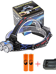 U'King® ZQ-X838B#2-US 2*CREE XML-T6 4000LM LED 3Modes Headlamp Bicycle Lamp Kit Emergency Charging for your Mobile Devices