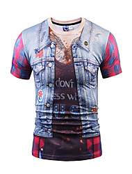 Men's Party Sports Casual/Daily Club Boho Street chic Punk & Gothic Spring Summer T-shirt,Print Animal Print Round Neck Short Sleeve
