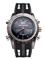 ASJ Мужской Спортивные часы Наручные часы Японский кварц LED Календарь Секундомер Защита от влаги С двумя часовыми поясамиКварцевый