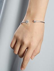 SILVERAGE Sterling Silver Dice Adjustable Cuff Bracelet