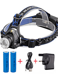 U'King® ZQ-X811B#1-UK CREE XML T6 LED Zoomable 2000LM Headlamp Headlight Bicycle Light for Camping Hiking