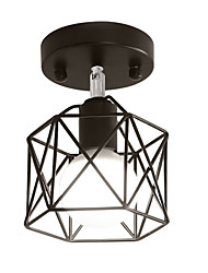 Vintage Metal Birdcage Loft Ceiling Lamp Light Direction Adjustable Flush Mount lights Entry Hallway Game Room Kitchen light Fixture