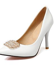 talons printemps été du club automne hiver chaussures bureau de mariage en cuir verni&robe carrière strass blanc rouge noir