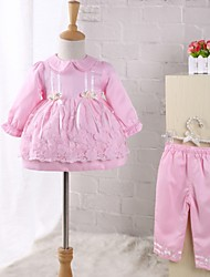 Baby Going out Floral Clothing Set,Lace Bow Spring Fall