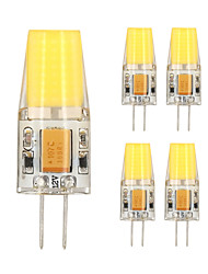 5PCS G4 1508 Cob AC DC 12 v 5W 850 lm Warm White White Double Needle Waterproof Glue Lamp