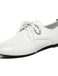 Damen-Flache Schuhe-Büro Lässig Kleid-PU-Flacher Absatz-Andere-Schwarz Weiß Light Purple