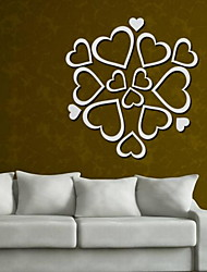 Love Shape Mirror Wall Sticker Acrylic Plexiglass Material Home Decoration