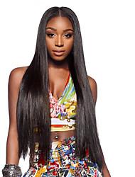 peluca de seda 8 al 26 pulgadas recta mujer negro natural virginal del pelo humano sin cola llena del cordón para al por mayor mujer negro