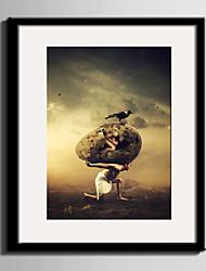 E-HOME® Framed Canvas Art Human Evolution Guess Framed Canvas Print One Pcs