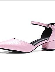 sandálias femininas primavera sapatos clube de verão do couro do escritório&vestido de carreira