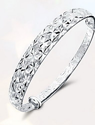 Bangles Natural Folk Style Sterling Silver Jewelry Jewelry For Gift