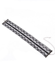 Choker Necklaces Jewelry Lace Jewelry Fashion Euramerican Simple Style White Black Jewelry Daily Casual 1pc
