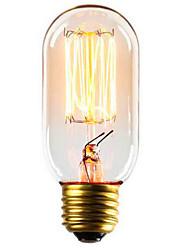 t45 source de lumière de décoration de fil droit 40w e27