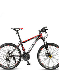 Mountain Bike Cycling 24 Speed 24 Inch 40mm MICROSHIFT TS70-9 Double Disc Brake Suspension Fork Aluminium Alloy Frame Ordinary/Standard