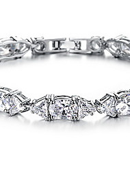 Chain Bracelet Crystal Crystal Zircon Alloy Fashion Jewelry White Jewelry 1pc