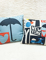 1 pcs Cotton/Linen Pillow Case Body Pillow Travel Pillow Sofa Cushion Novelty Pillow Pillow Cover,Geometric Still Life Cities