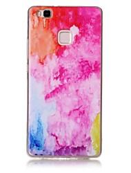 Для С узором Кейс для Задняя крышка Кейс для Мрамор Мягкий TPU для Huawei Huawei P9 Lite Huawei P8 Lite Huawei Honor 8