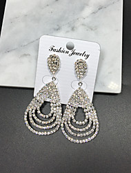 Rhinestone Drop Earrings Dangle Earrings Jewelry Wedding Party Alloy 1 pair Silver