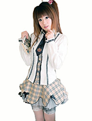 Cosplay Costumes Student/School Uniform Festival/Holiday Halloween Costumes White Solid Carnival Female Cotton