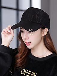 nouveau printemps coréen et chapeau de baseball de perles de dentelle été dames cap en plein air