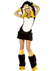Costumes de Cosplay Animal Fête / Célébration Déguisement d'Halloween Noir Couleur Pleine Robe Gants Jambières Chapeau FémininFausse