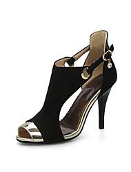 sandálias Primavera-Verão sapatos clube queda gladiador partido conforto velo de casamento&noite casual salto agulha dividida fivela