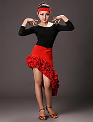 TenueFibre de LaitFilles´ Ouverture latérale Spectacle Danse latine Taille basse
