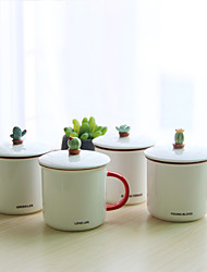 Vintage Drinkware, 300 ml Portable Ceramic Coffee Milk Coffee Mug Travel Mugs