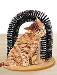 Cat Toy Pet Toys Interactive Scratch Pad Black Plush